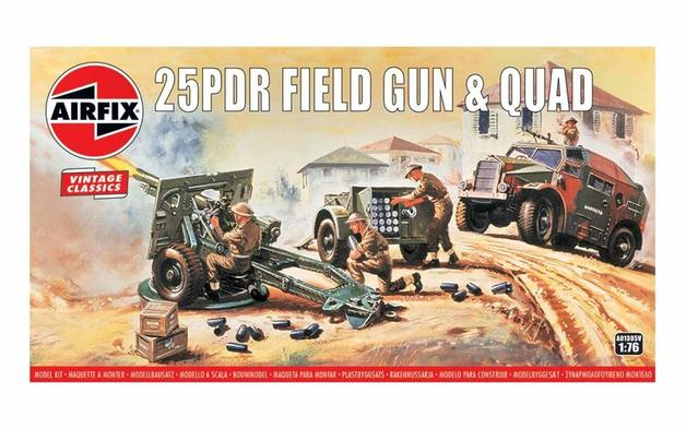 Airfix 25PDR Field Gun & Quad 1:76 - Model Kit
