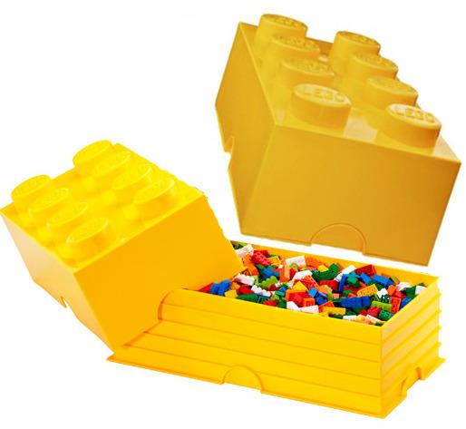 LEGO: Storage Brick 8 - Yellow