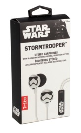 Tribe: Stereo Earphones with Microphone - Stormtrooper