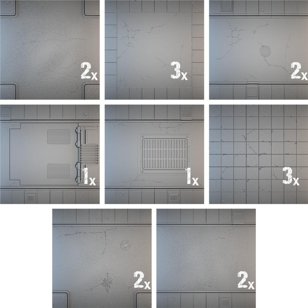 Tablescapes Tiles: Urban Streets - Clean (16 tile set) image