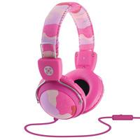 Moki Camo In-line Mic Pink Headphones