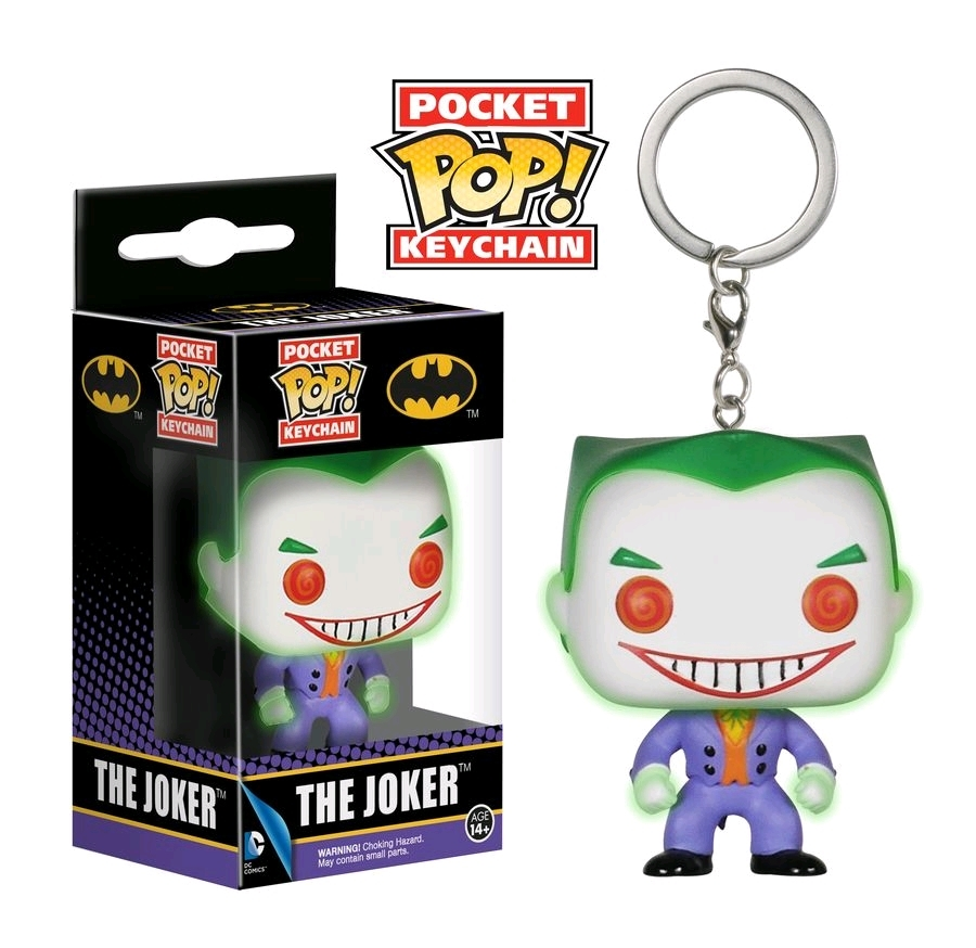 DC Comic: Joker (Glow) - Pocket Pop! Key Chain image