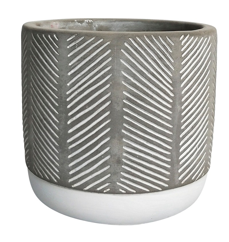 Diagonal Striped Two Tone Pot image