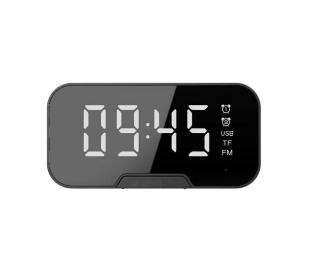 Wireless Bluetooth Speaker Portable Mini Double Alarm Clock FM Radio