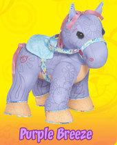 Doodle Bear Colour By Number Pony - Purple Breeze
