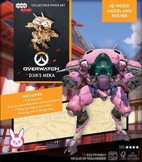 Incredibuilds: Overwatch:D.Va'S Meka 3D Wood Model And Poster