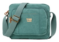 Troop London: Classic Zip Top Small Satchel - Turquoise