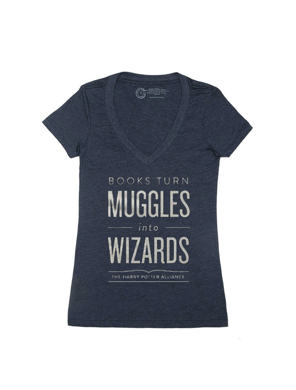 Books Turn Muggles Into Wizards - Women's Medium (V-Neck)