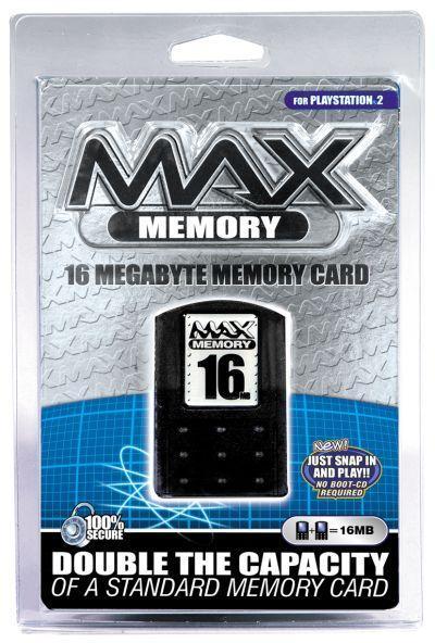 MAX PS2 Memory Card - 16MB for PlayStation 2