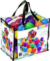 Intex: Fun Ballz - Large Plastic Ball Set (100 piece) image