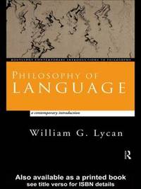 Philosophy of Language by William G Lycan image