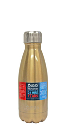 Oasis Stainless Steel Insulated Drink Bottle - Champagne (350ml)