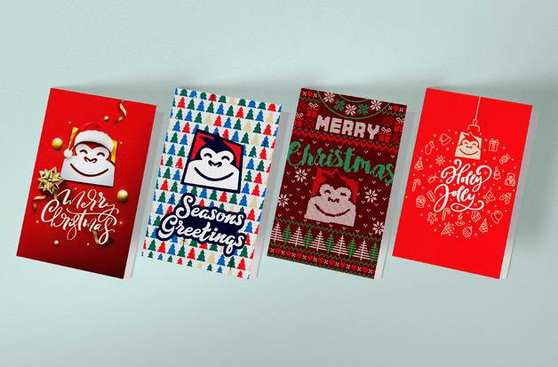 Gorilla Gift: Christmas Cards - Assorted Designs (Pack of 10)
