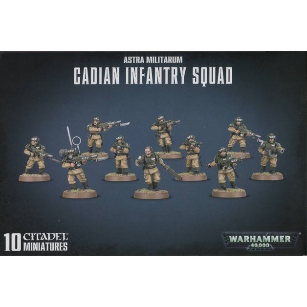 Warhammer 40,000 Imperial Guard Cadian Shock Troops