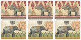 Caravan Elephants Coasters (Set of 6)