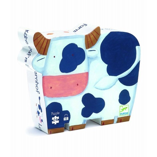 Djeco: Silhouette Puzzle - The Cows on the Farm
