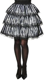 Halloween Mix and Match Striped Ruffle Skirt (Size Standard)