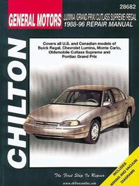General Motors Lumina/Grand Prix/Cutlass Supreme/Regal (88 - 96) by Chilton Automotive Books image