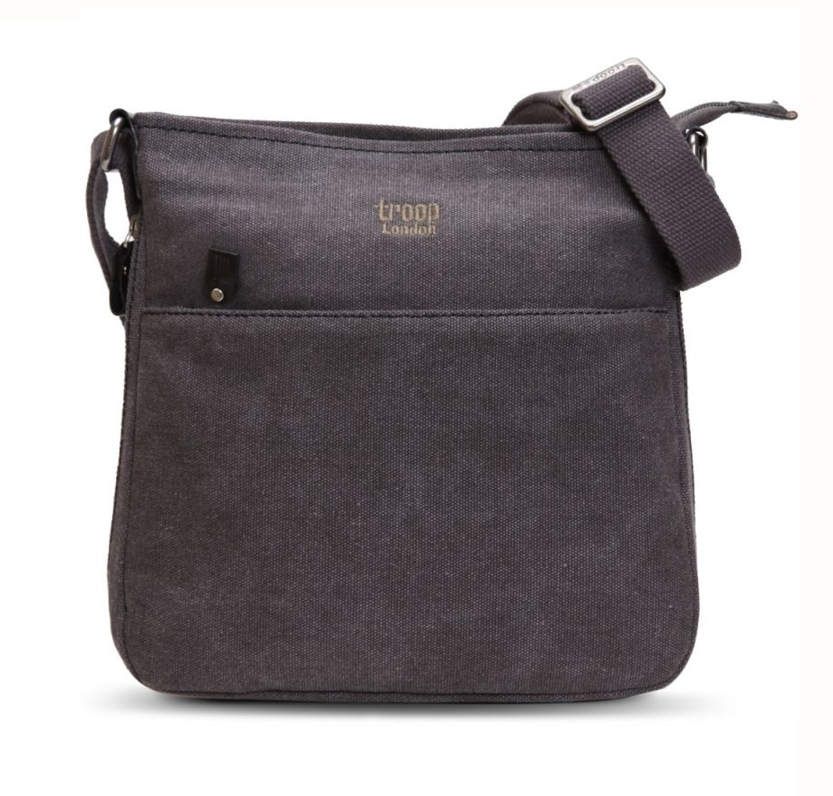 Classic Zip-Top Shoulder Bag - Black image