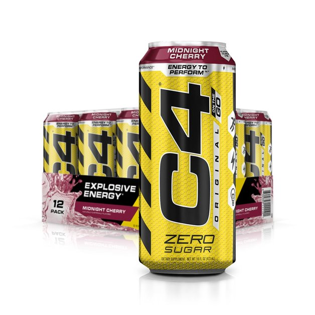Cellucor: C4 Carbonated On-The-Go RTD - Midnight Cherry (473ml)