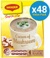 MAGGI Soup for a Cup Cream of Mushroom 62g (48 Pack)