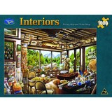 Interior 1000pc Jigsaw Puzzle - Fishing Map and Guide Shop