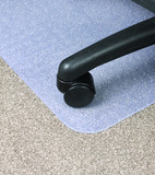 Dixon Chairmat PVC Low To Medium Pile Key Hole - Clear (925x1200mm)