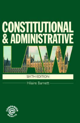 Constitutional and Administrative Law by Hilaire A. Barnett