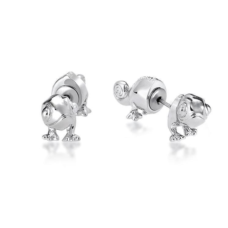 Couture Kingdom: Disney Princess Rapunzel Pascal Earrings - White Gold image