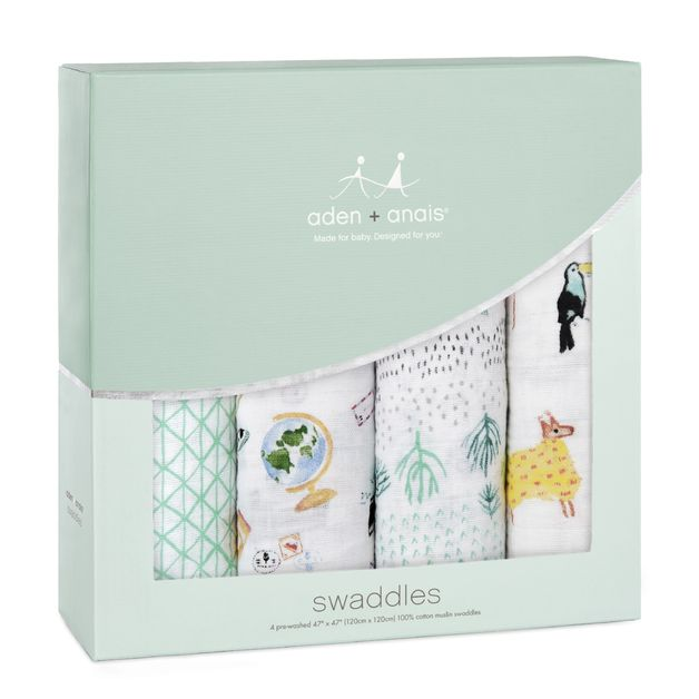 Aden + Anais: Classic Swaddle - Around The World (4 Pack)