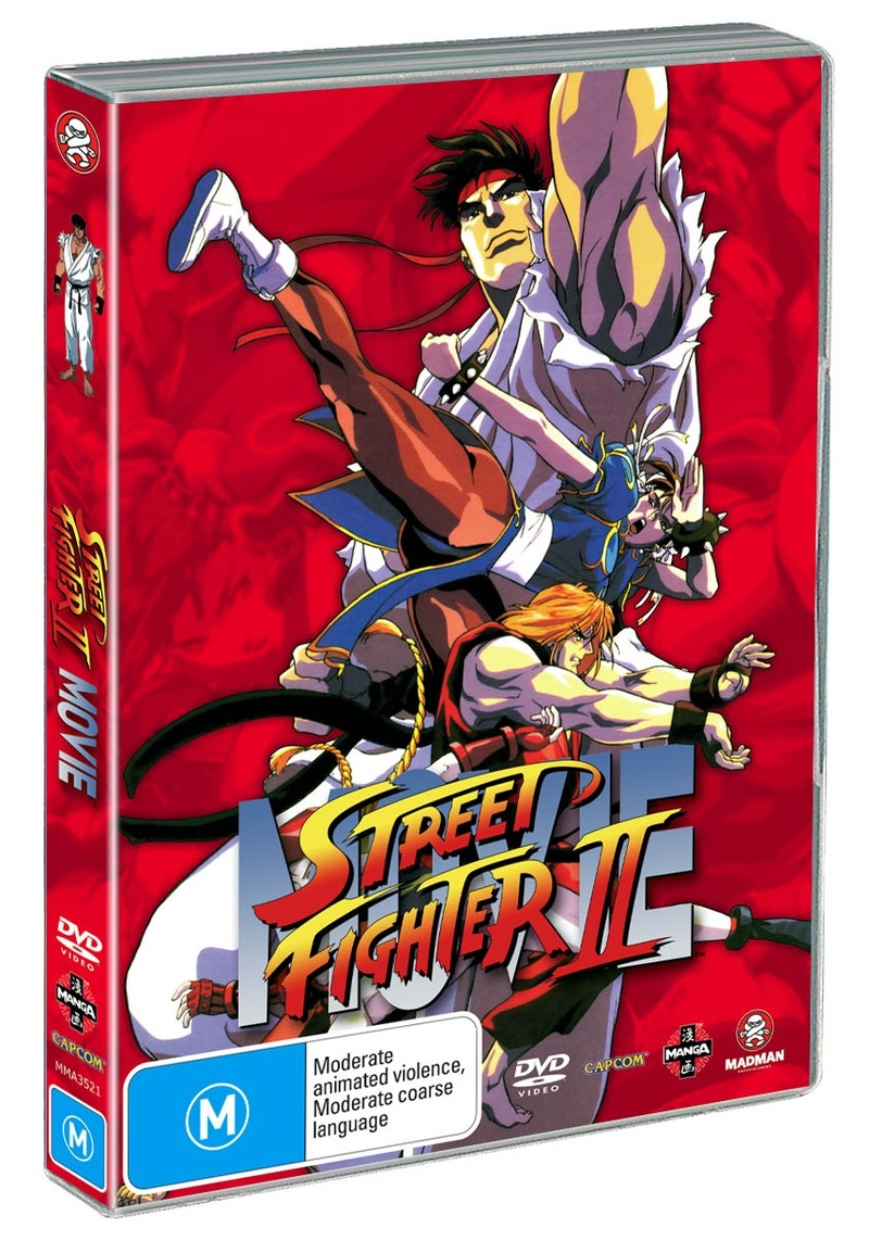 Street Fighter II - The Animated Movie on DVD image