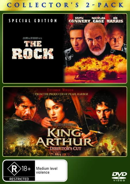 Rock, The / King Arthur (2 Disc Set) on DVD