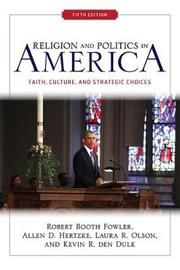 Religion and Politics in America by Robert Booth Fowler image
