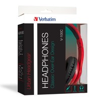 Verbatim TDK ST100 Over-Ear Calssic Audio Headphones (Red) image