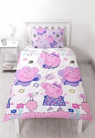 Peppa Pig Happy Reversible Duvet Set - Single