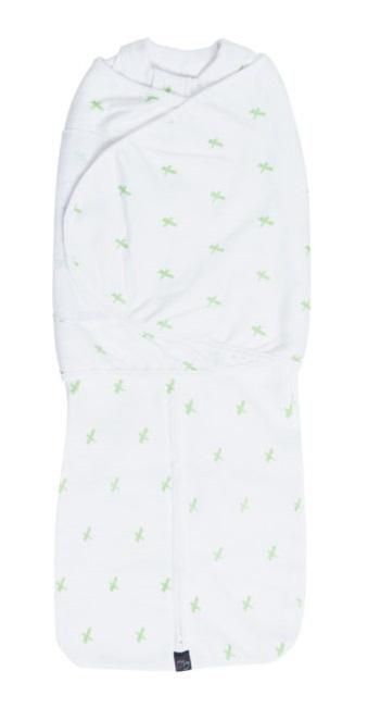 Mum 2 Mum: DreamSwaddle (Large) - Green Criss-Cross