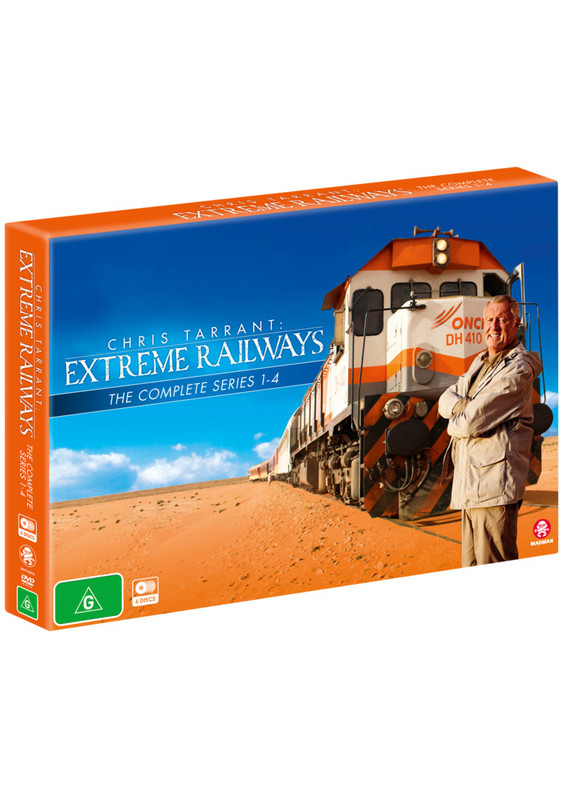 Chris Tarrant's Extreme Railways S1-4 Box Set (limited) on DVD