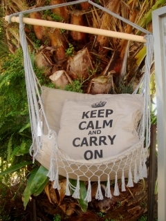 Hammock Chair With Keep Calm Cushion At Mighty Ape Nz