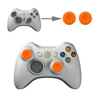 Silicone Key Protector Thumb Grip Caps for PS4 & Xbox (Orange) for Xbox One