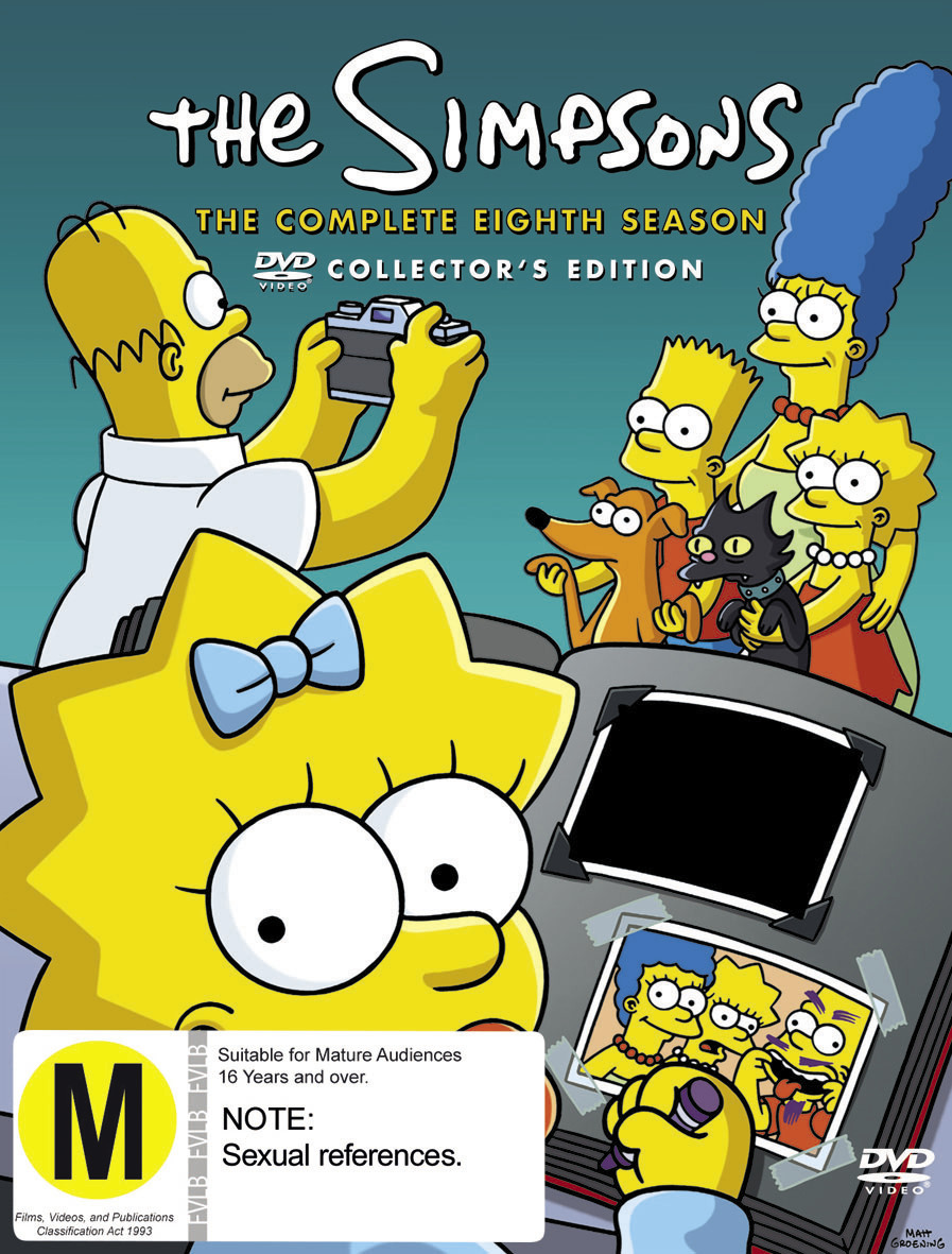 The Simpsons - The Complete Eighth Season on DVD image