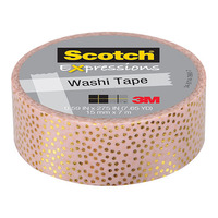 Scotch Expressions: Foil Washi Tape - Pastel Dots (15mm x 7m)