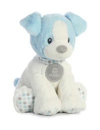 Aurora Baby: First Puppy Polka Dot - Blue Small (25cm)