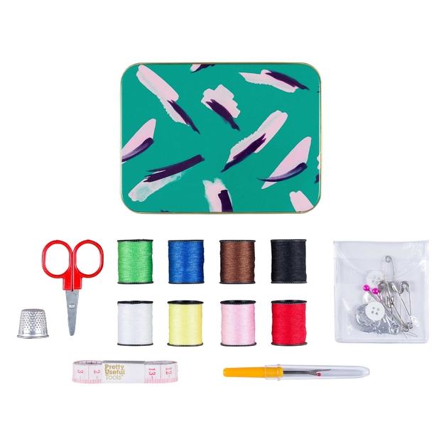 Pretty Useful Tools: Sew & Repair Kit - Jungle Strokes Green