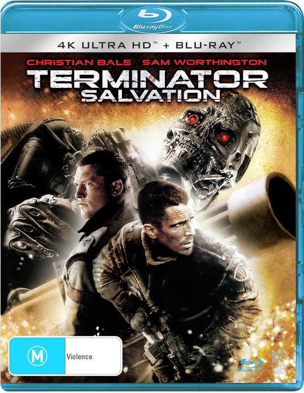 Terminator Salvation (2 Disc Set) on DVD, UHD Blu-ray