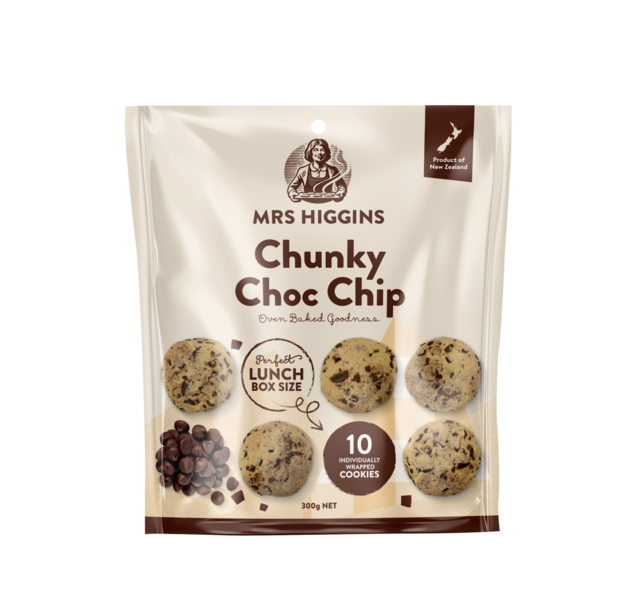 Mrs Higgins Chunky Choc Chip Multipack 10pk