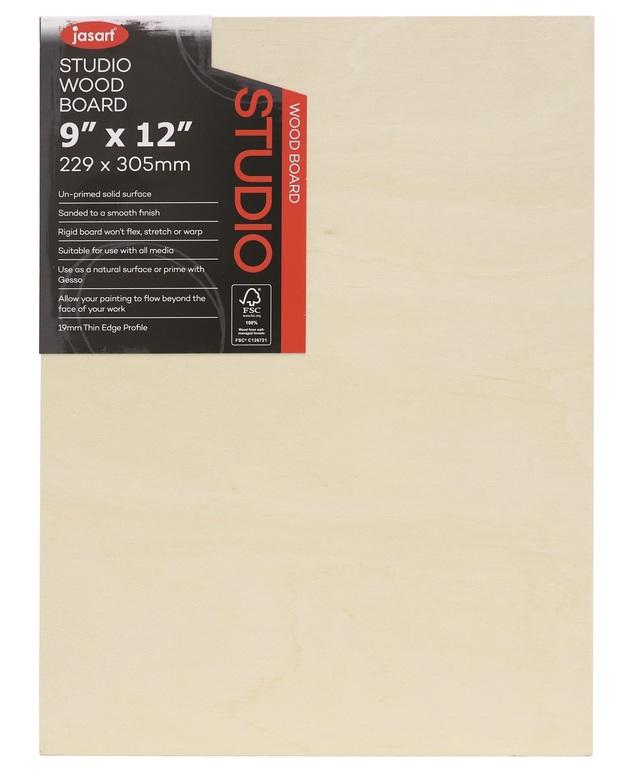 Jasart: Studio Artist Board - 1 1/2inch Thick Edge (12x16inch)