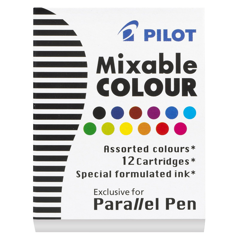 Pilot Parallel Calligraphy Pen Ink Refill - Assorted (12 Pack) image