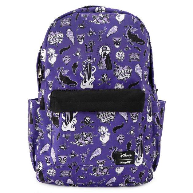 Loungefly: Disney - Villains Purple Backpack