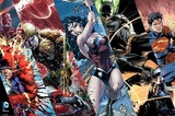DC Comics - Justice League Heroes Stripes Wall Poster (403)