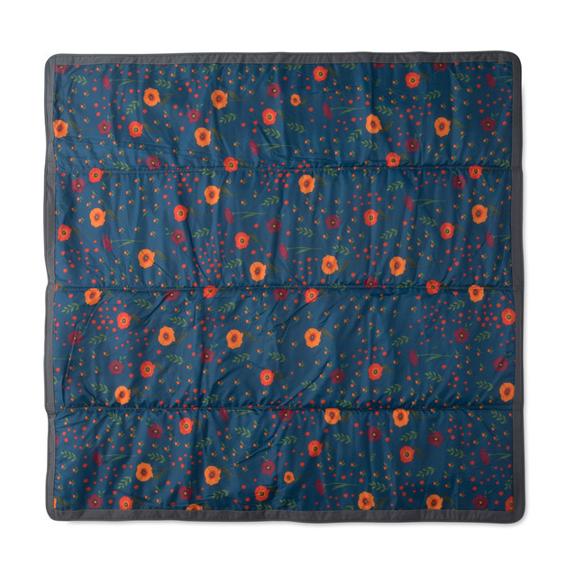 Little Unicorn: Outdoor Blanket - Midnight Poppy (5 x 5)